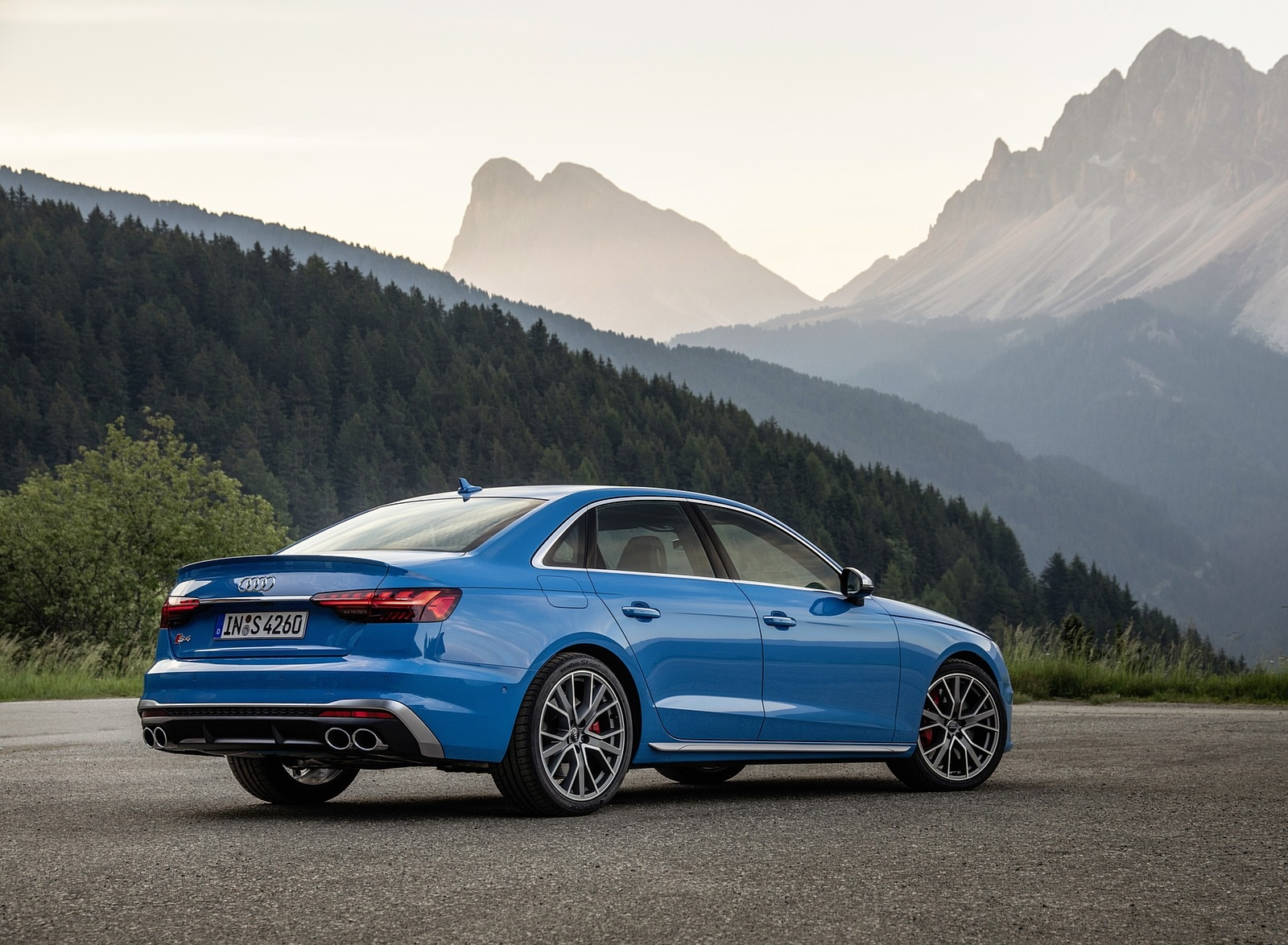 2019 Audi S4 TDI (Color: Turbo Blue) Rear Three-Quarter Wallpapers (11)
