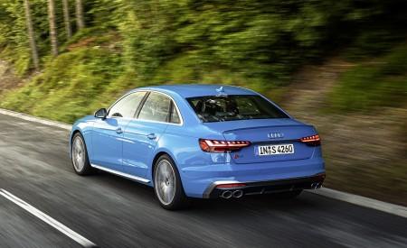 2019 Audi S4 TDI (Color: Turbo Blue) Rear Three-Quarter Wallpapers 450x275 (5)