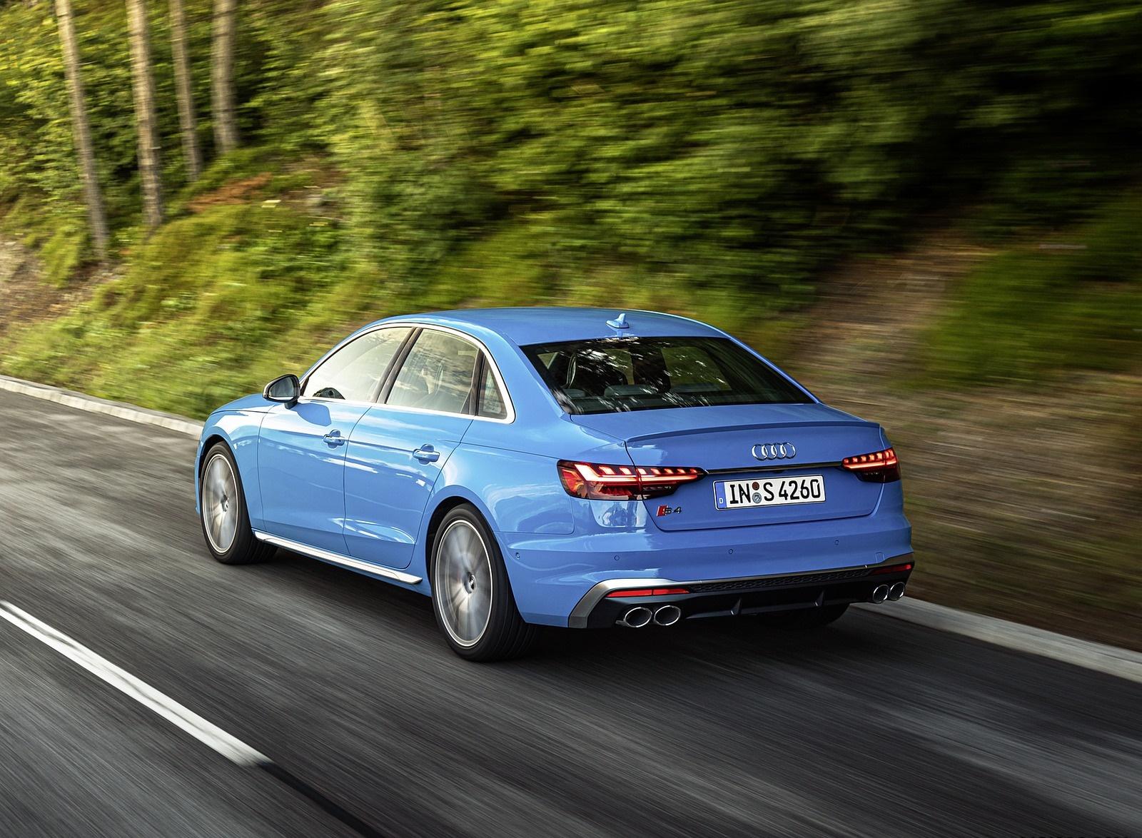 2019 Audi S4 TDI (Color: Turbo Blue) Rear Three-Quarter Wallpapers (5)
