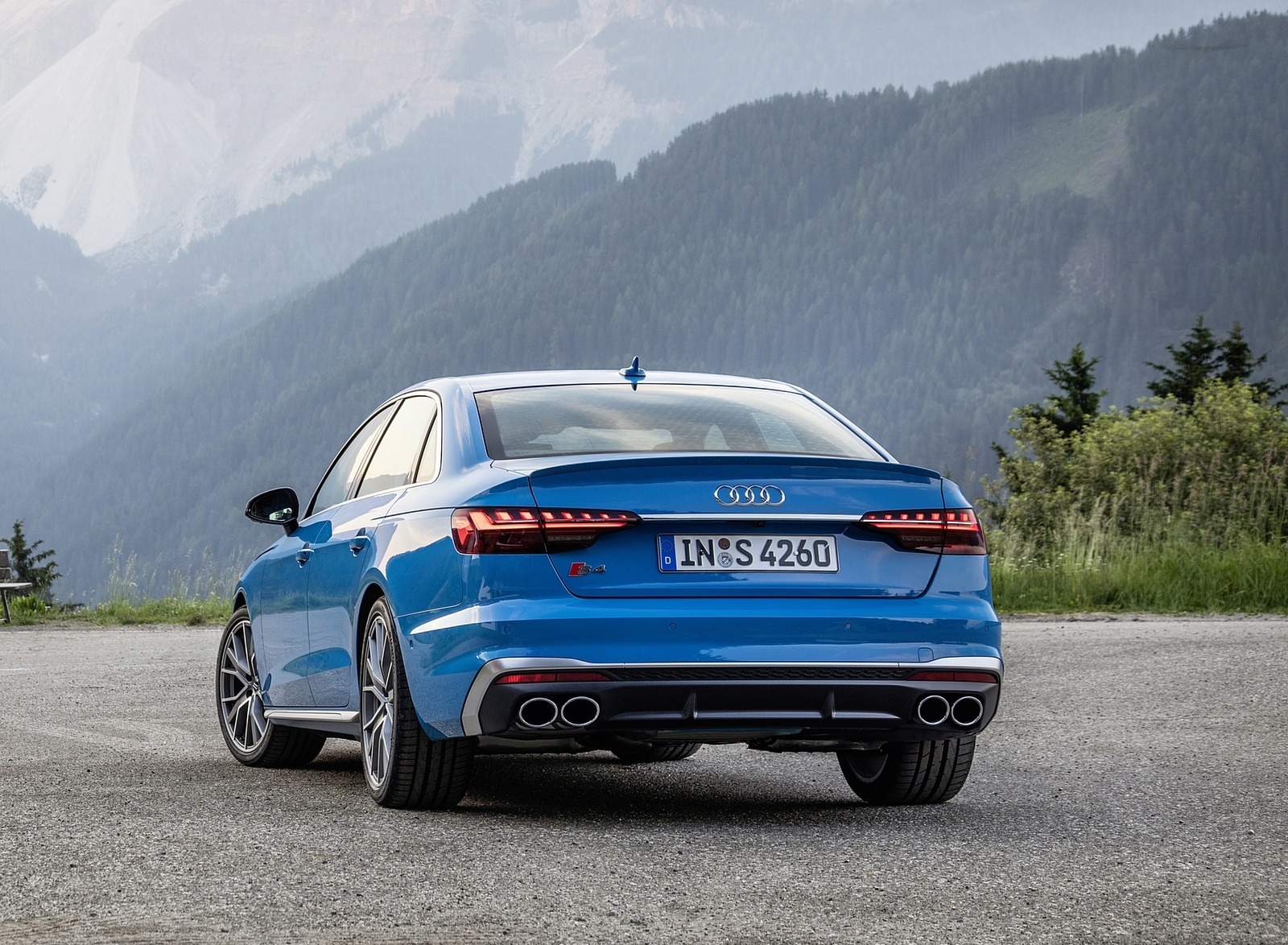 2019 Audi S4 TDI (Color: Turbo Blue) Rear Wallpapers (12)