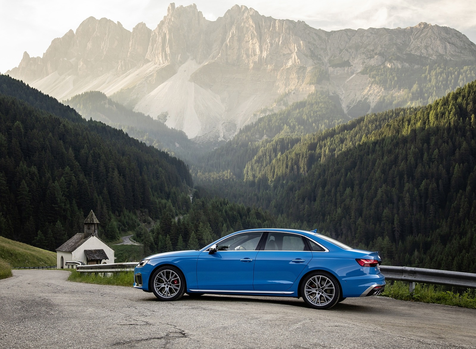 2019 Audi S4 TDI (Color: Turbo Blue) Side Wallpapers (13)