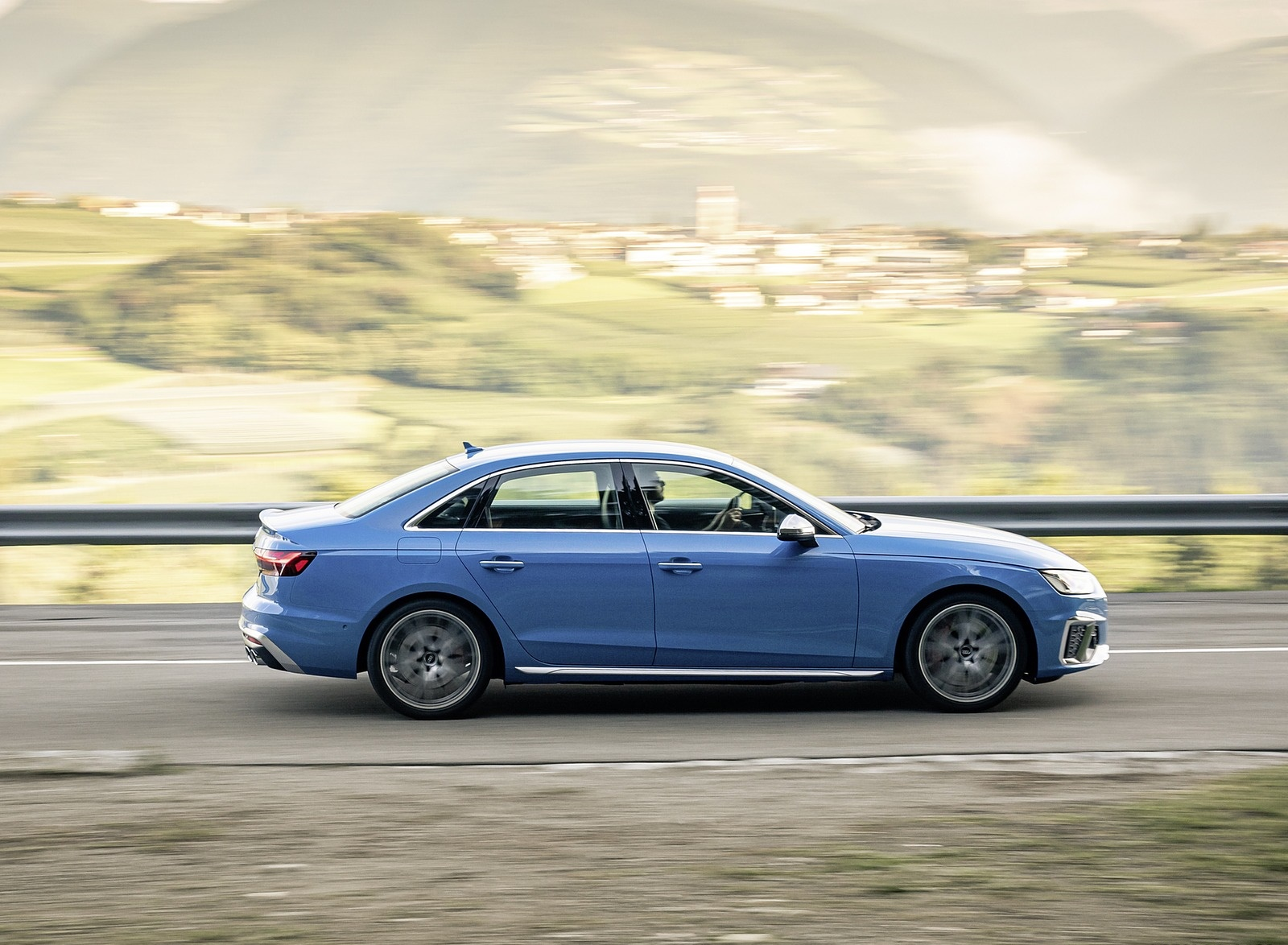 2019 Audi S4 TDI (Color: Turbo Blue) Side Wallpapers (6)