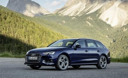 2020 Audi A4 Avant (Color: Navarra Blue) Front Three-Quarter Wallpapers 450x275 (38)