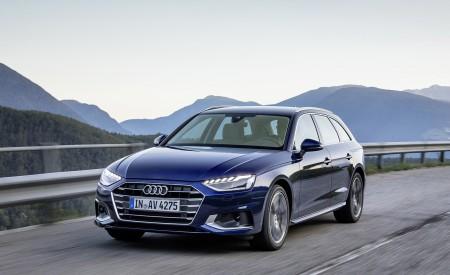 2020 Audi A4 Avant (Color: Navarra Blue) Front Three-Quarter Wallpapers 450x275 (26)