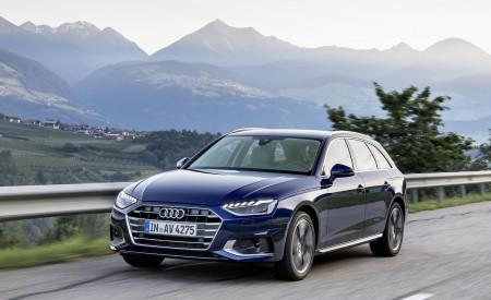 2020 Audi A4 Avant (Color: Navarra Blue) Front Three-Quarter Wallpapers 450x275 (27)