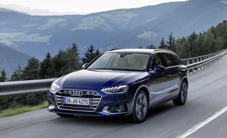 2020 Audi A4 Avant (Color: Navarra Blue) Front Three-Quarter Wallpapers 450x275 (28)