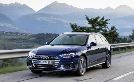 2020 Audi A4 Avant (Color: Navarra Blue) Front Three-Quarter Wallpapers 450x275 (29)