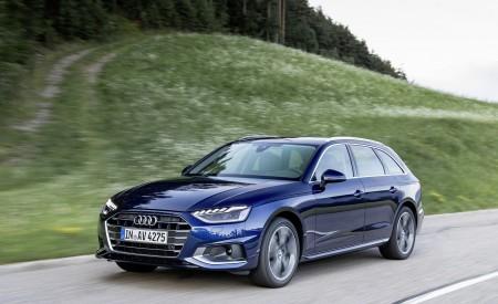 2020 Audi A4 Avant (Color: Navarra Blue) Front Three-Quarter Wallpapers 450x275 (30)