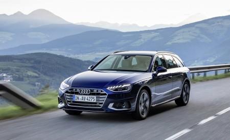 2020 Audi A4 Avant (Color: Navarra Blue) Front Three-Quarter Wallpapers 450x275 (31)