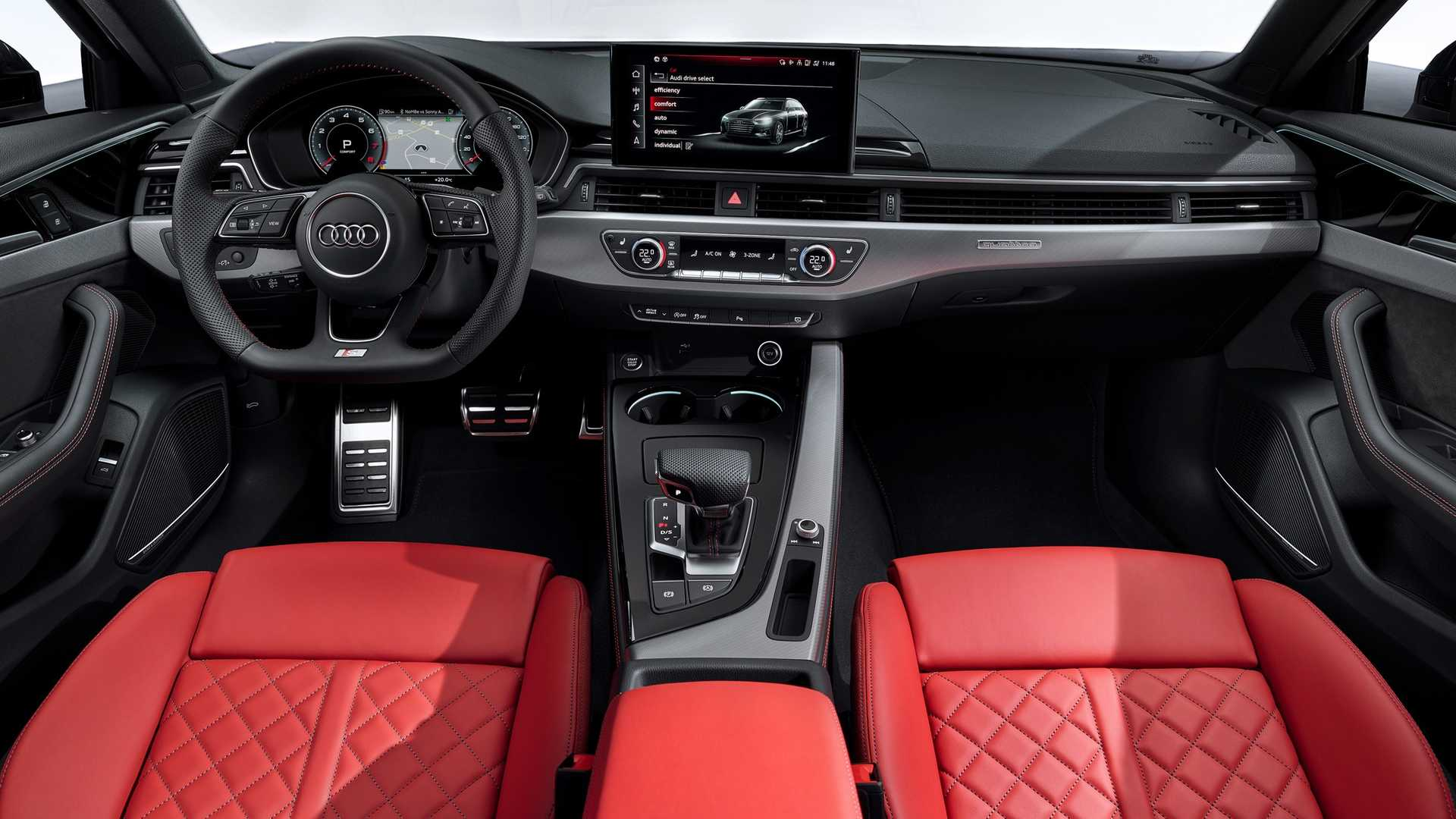 2020 Audi A4 Avant Interior Cockpit Wallpapers (6)