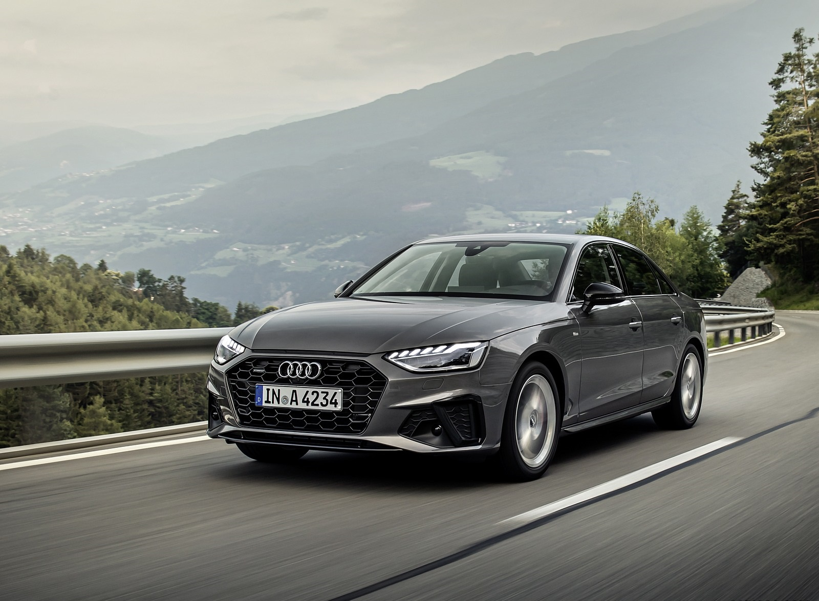 2020 Audi A4 (Color: Terra Gray) Front Three-Quarter Wallpapers (2)