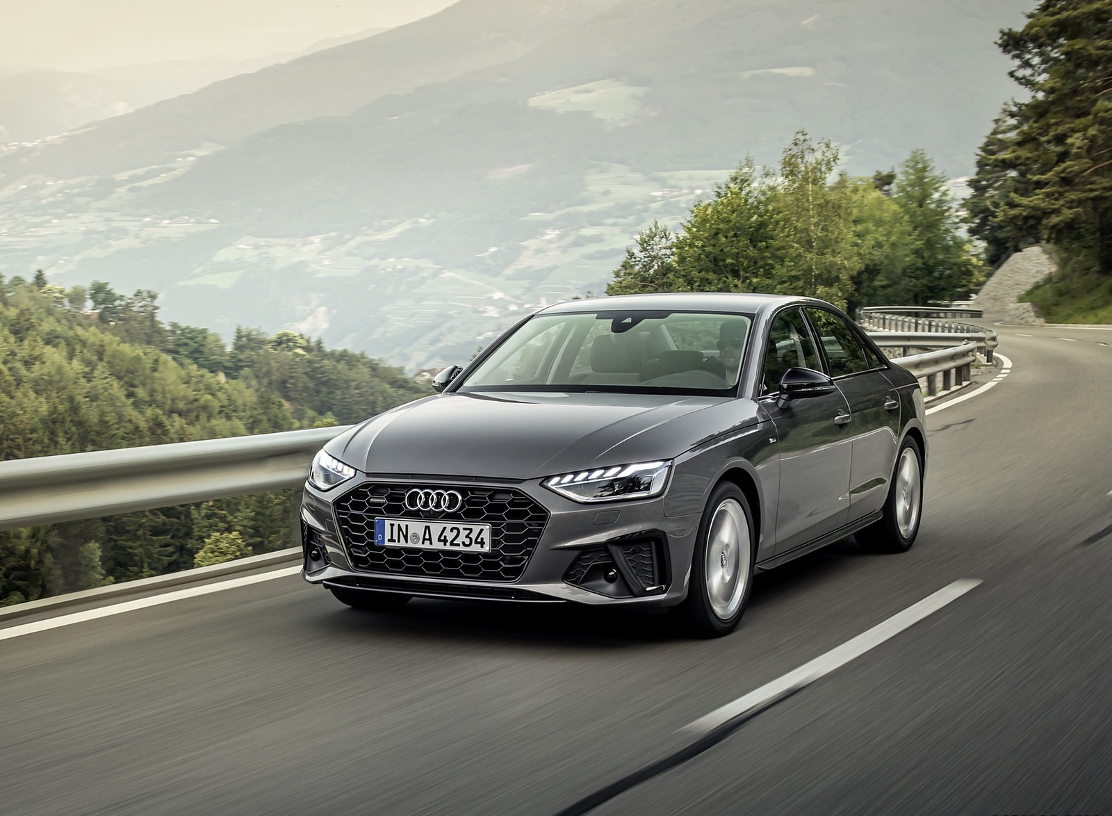 2020 Audi A4 (Color: Terra Gray) Front Three-Quarter Wallpapers (1)