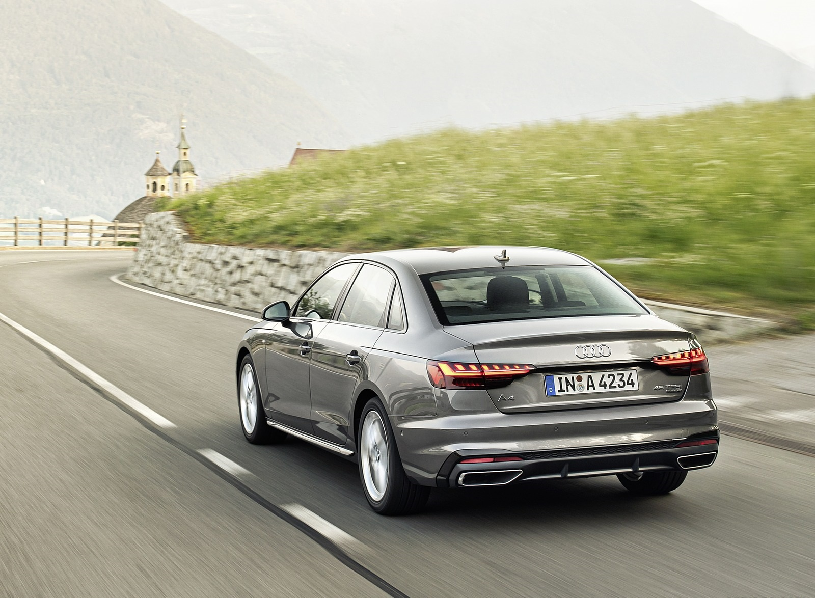 2020 Audi A4 (Color: Terra Gray) Rear Three-Quarter Wallpapers (6)