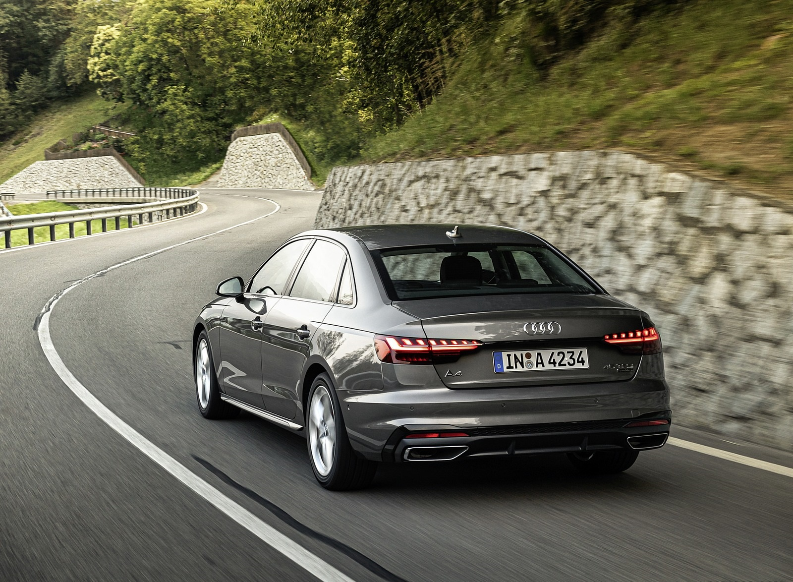 2020 Audi A4 (Color: Terra Gray) Rear Wallpapers (7)
