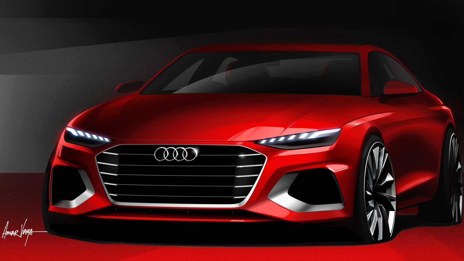 2020 Audi A4 Design Sketch Wallpapers (11)