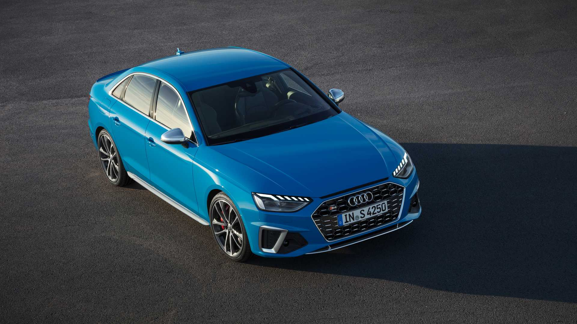 2020 Audi S4 TDI (Color: Turbo Blue) Front Three-Quarter Wallpapers (2)