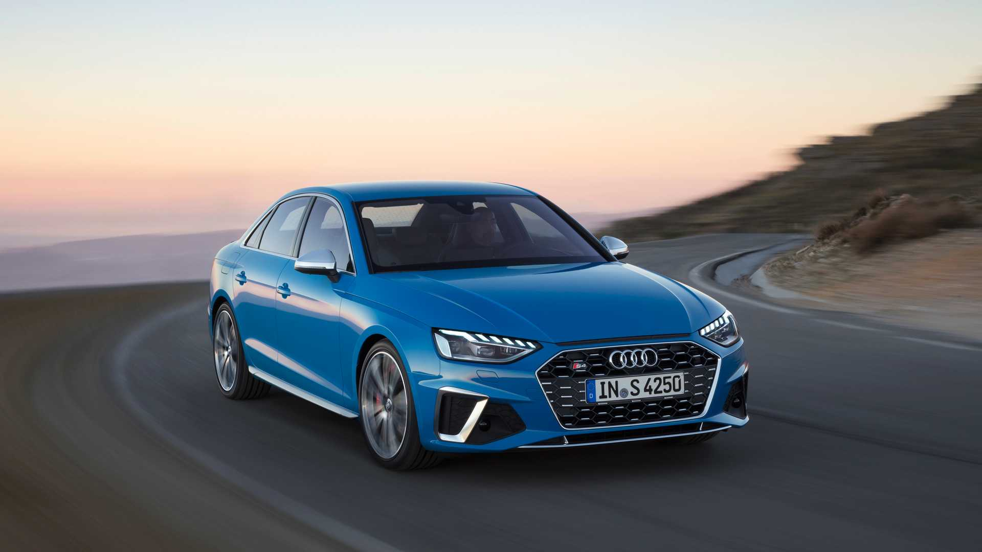 2020 Audi S4 TDI (Color: Turbo Blue) Front Three-Quarter Wallpapers (1)