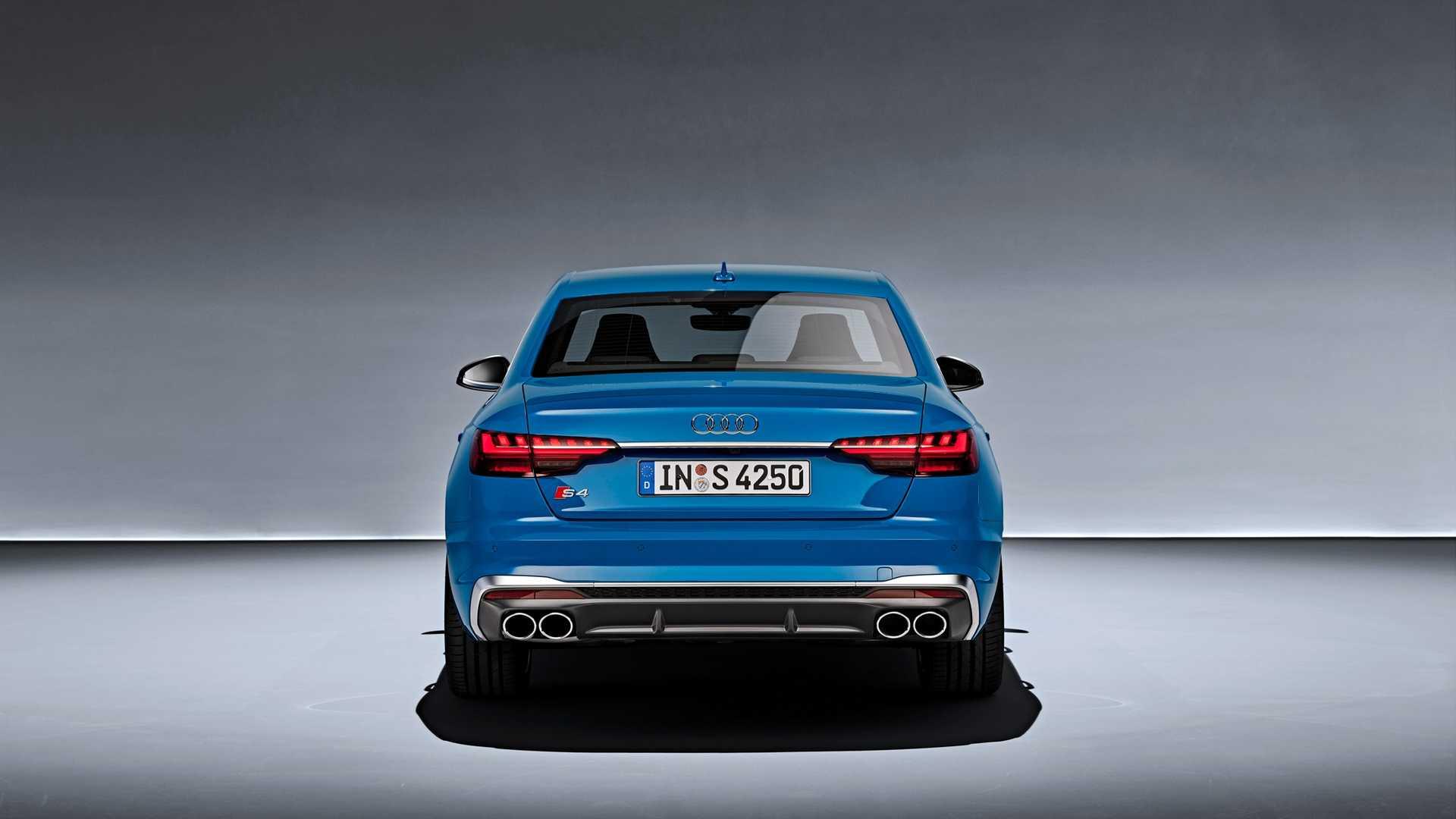 2020 Audi S4 TDI (Color: Turbo Blue) Rear Wallpapers' (5)