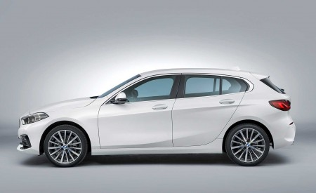 2020 BMW 1-Series 118i (Color: Mineral white Metallic) Side Wallpapers 450x275 (22)