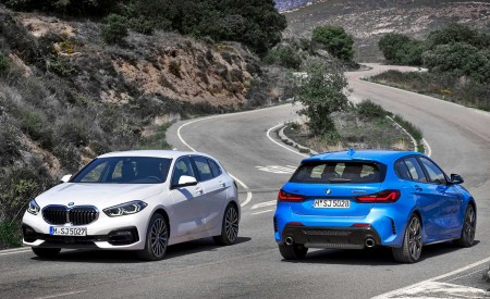 2020 BMW 1-Series 118i (Color: Mineral white Metallic) and BMW M135i xDrive Wallpaper 450x275 (17)