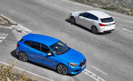 2020 BMW 1-Series 118i (Color: Mineral white Metallic) and BMW M135i xDrive Wallpapers 450x275 (16)