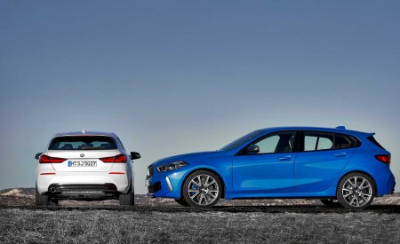 2020 BMW 1-Series 118i (Color: Mineral white Metallic) and BMW M135i xDrive Wallpaper 450x275 (13)