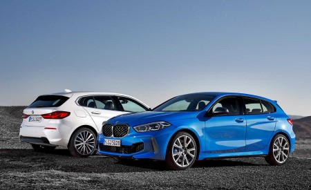 2020 BMW 1-Series 118i (Color: Mineral white Metallic) and BMW M135i xDrive Wallpapers 450x275 (14)