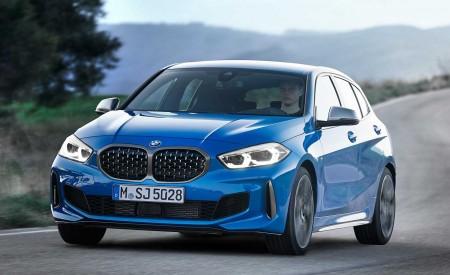 2020 BMW M135i xDrive (Color: Misano Blue Metallic) Front Three-Quarter Wallpapers 450x275 (3)