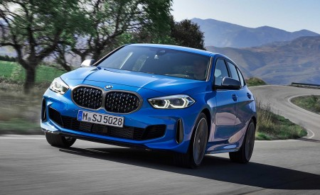 2020 BMW M135i xDrive (Color: Misano Blue Metallic) Front Wallpapers 450x275 (5)