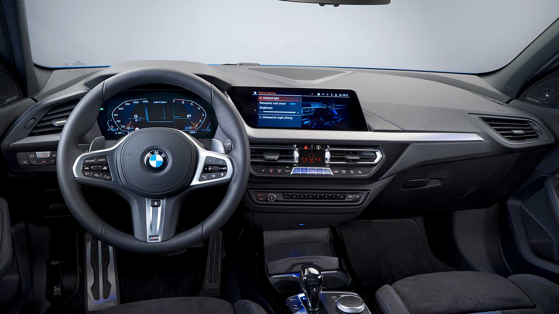 2020 Bmw M135i Xdrive Color Misano Blue Metallic Interior Cockpit Wallpapers 47 Newcarcars