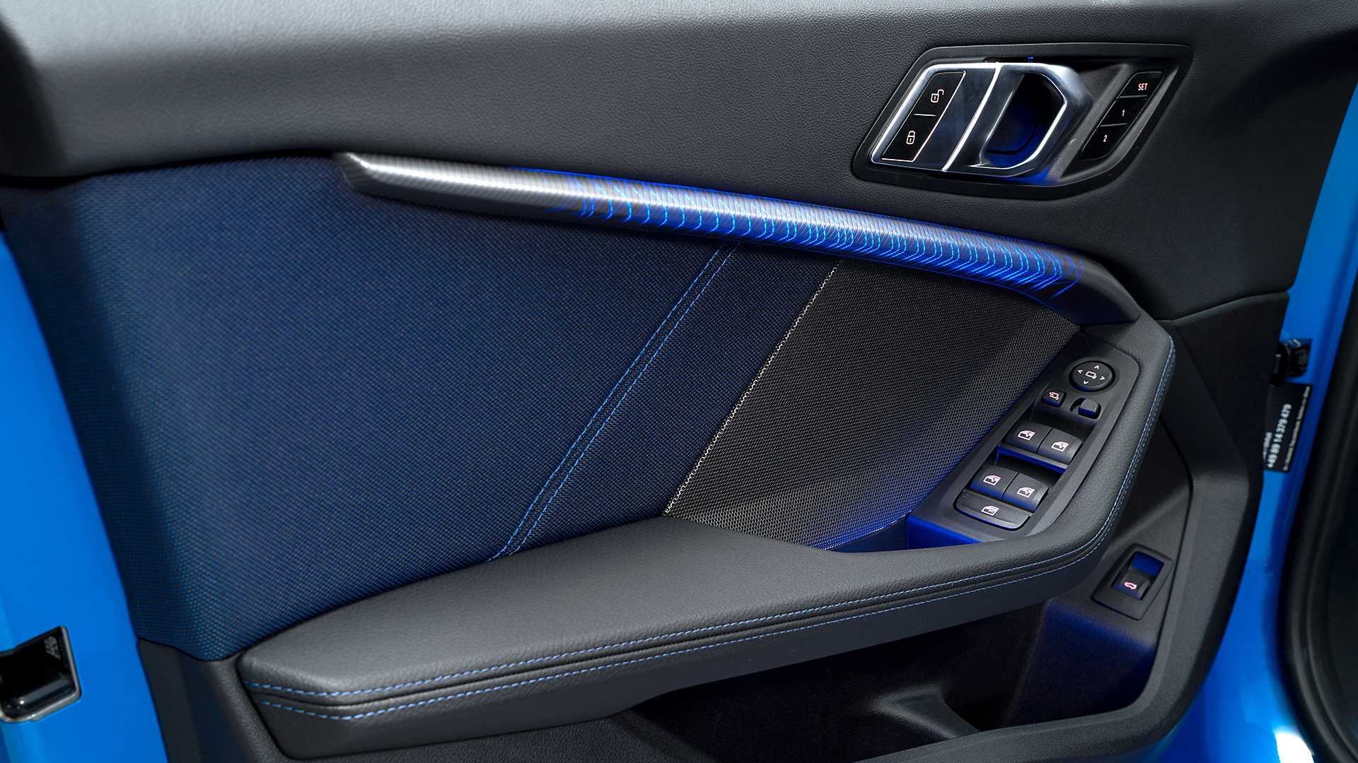 2020 Bmw M135i Xdrive Color Misano Blue Metallic Interior Detail Wallpapers 45 Newcarcars