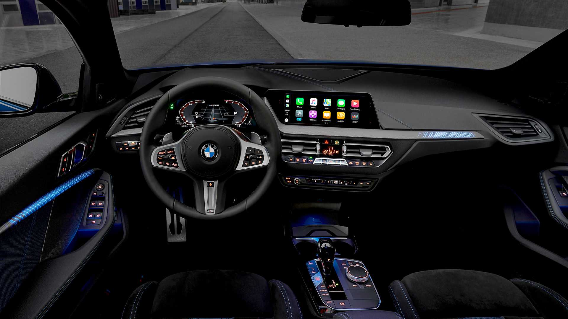 2020 Bmw M135i Xdrive Color Misano Blue Metallic Interior