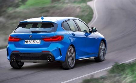 2020 BMW M135i xDrive (Color: Misano Blue Metallic) Rear Three-Quarter Wallpapers 450x275 (6)