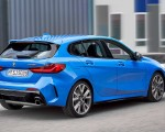 2020 BMW M135i xDrive (Color: Misano Blue Metallic) Rear Three-Quarter Wallpapers 150x120 (13)