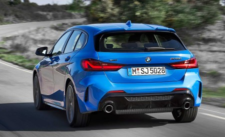 2020 BMW M135i xDrive (Color: Misano Blue Metallic) Rear Wallpapers 450x275 (8)