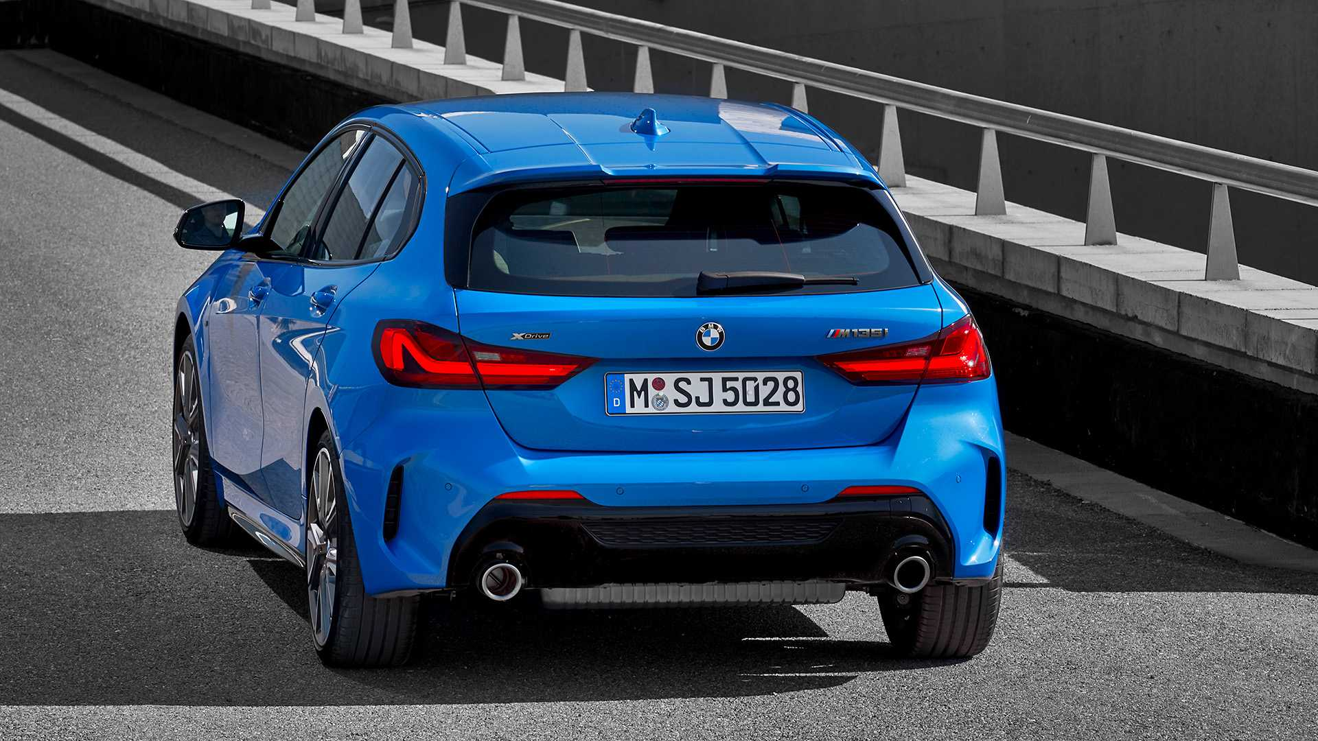2020 BMW M135i xDrive (Color: Misano Blue Metallic) Rear Wallpapers (9)
