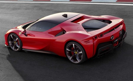 2020 Ferrari SF90 Stradale Rear Three-Quarter Wallpapers 450x275 (11)