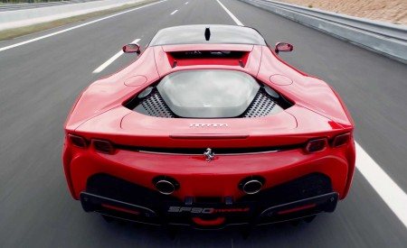 2020 Ferrari SF90 Stradale Rear Wallpapers 450x275 (12)