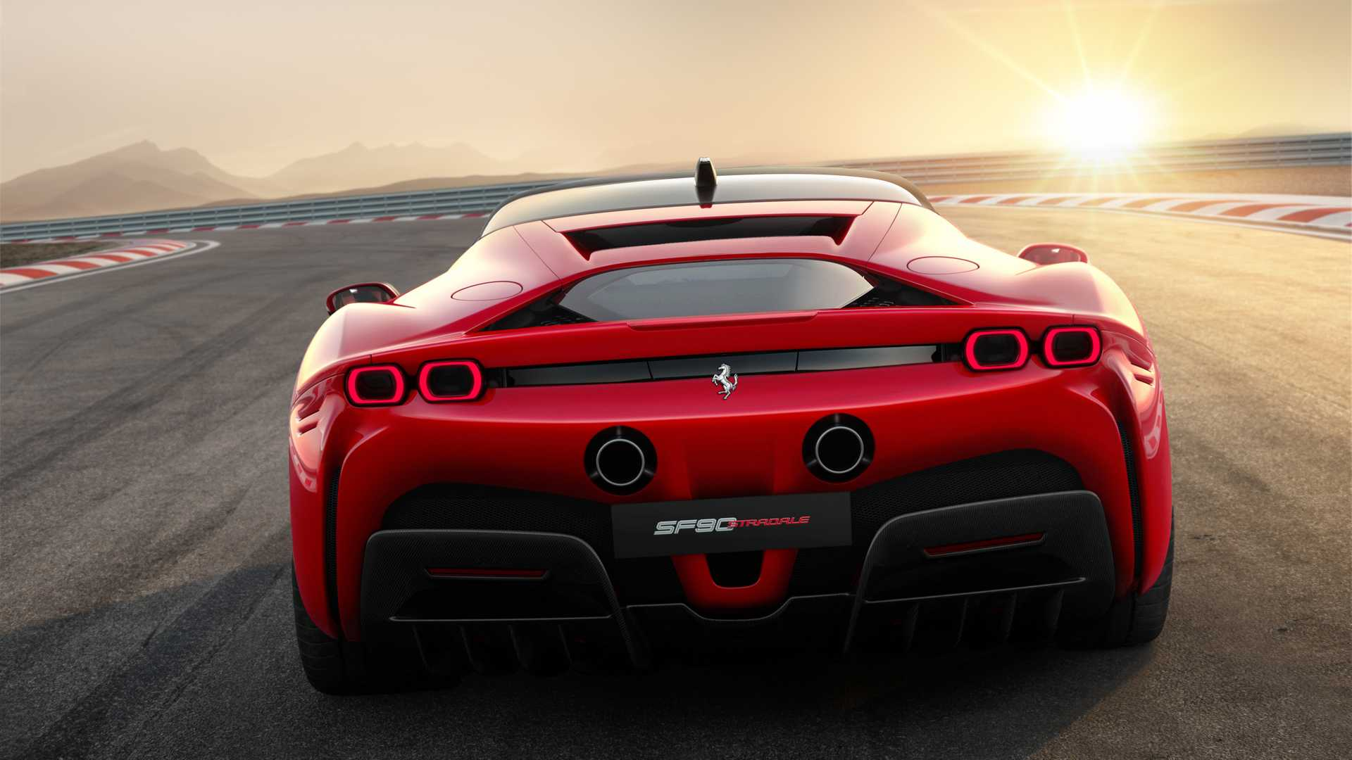 2020 Ferrari SF90 Stradale Rear Wallpapers (14)