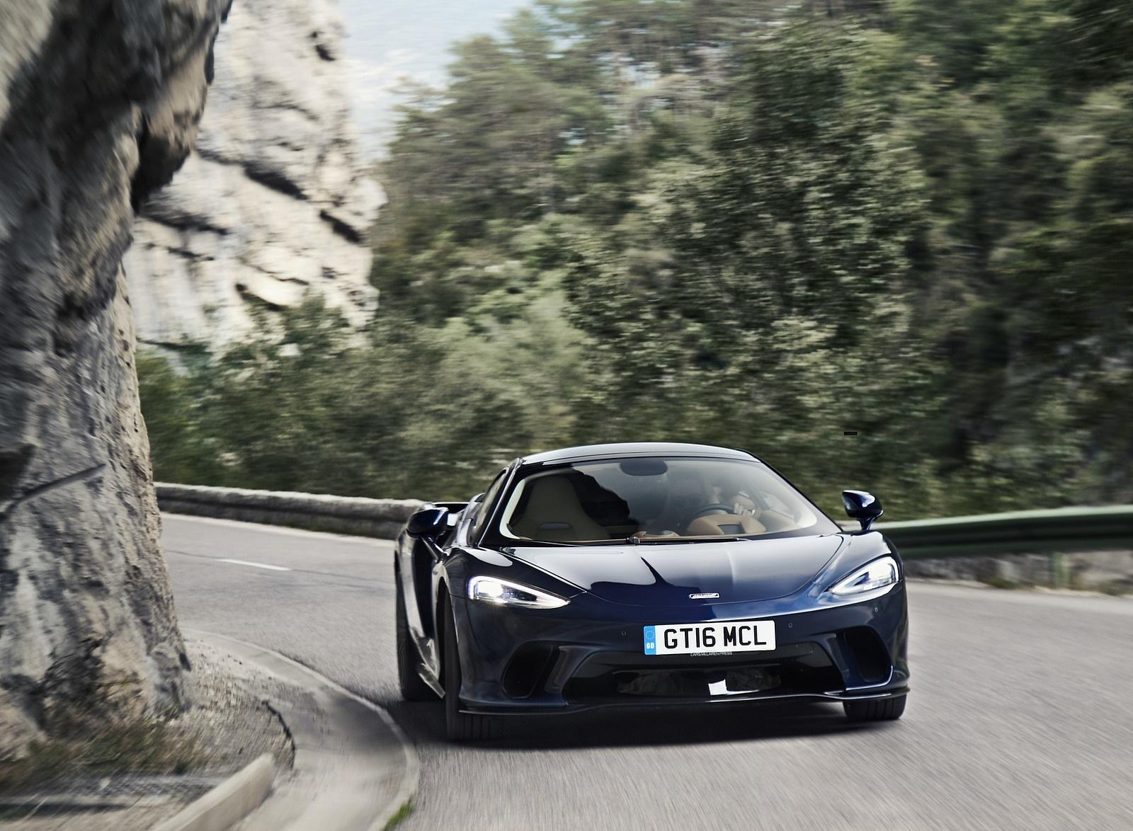 2020 McLaren GT (Color: Namaka Blue) Front Wallpapers (2)