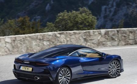 2020 McLaren GT (Color: Namaka Blue) Rear Three-Quarter Wallpapers 450x275 (8)