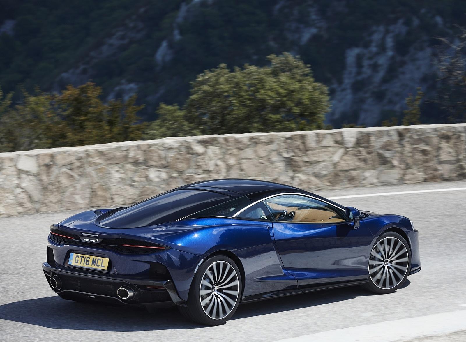 2020 McLaren GT (Color: Namaka Blue) Rear Three-Quarter Wallpapers (8)