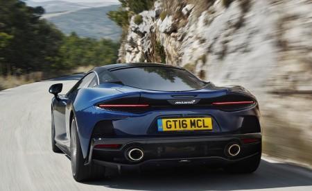 2020 McLaren GT (Color: Namaka Blue) Rear Wallpapers 450x275 (7)