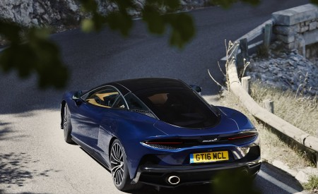 2020 McLaren GT (Color: Namaka Blue) Rear Wallpapers 450x275 (6)