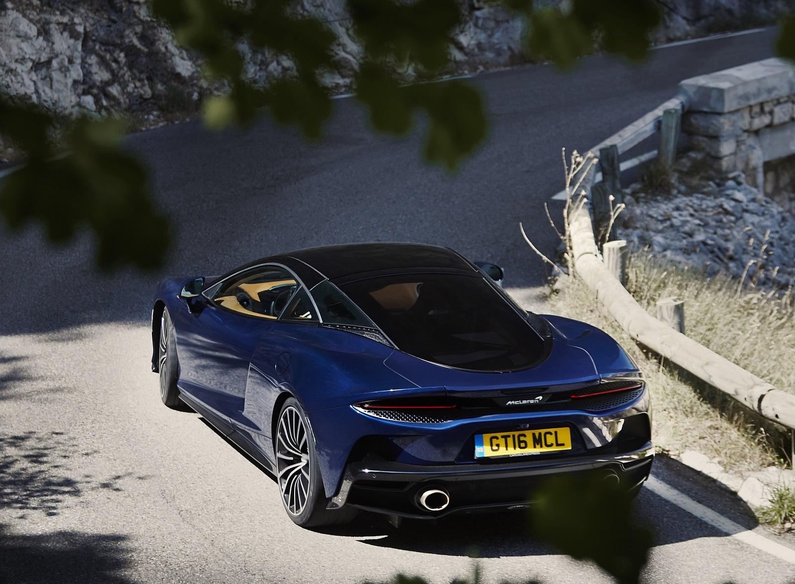 2020 McLaren GT (Color: Namaka Blue) Rear Wallpapers (6)