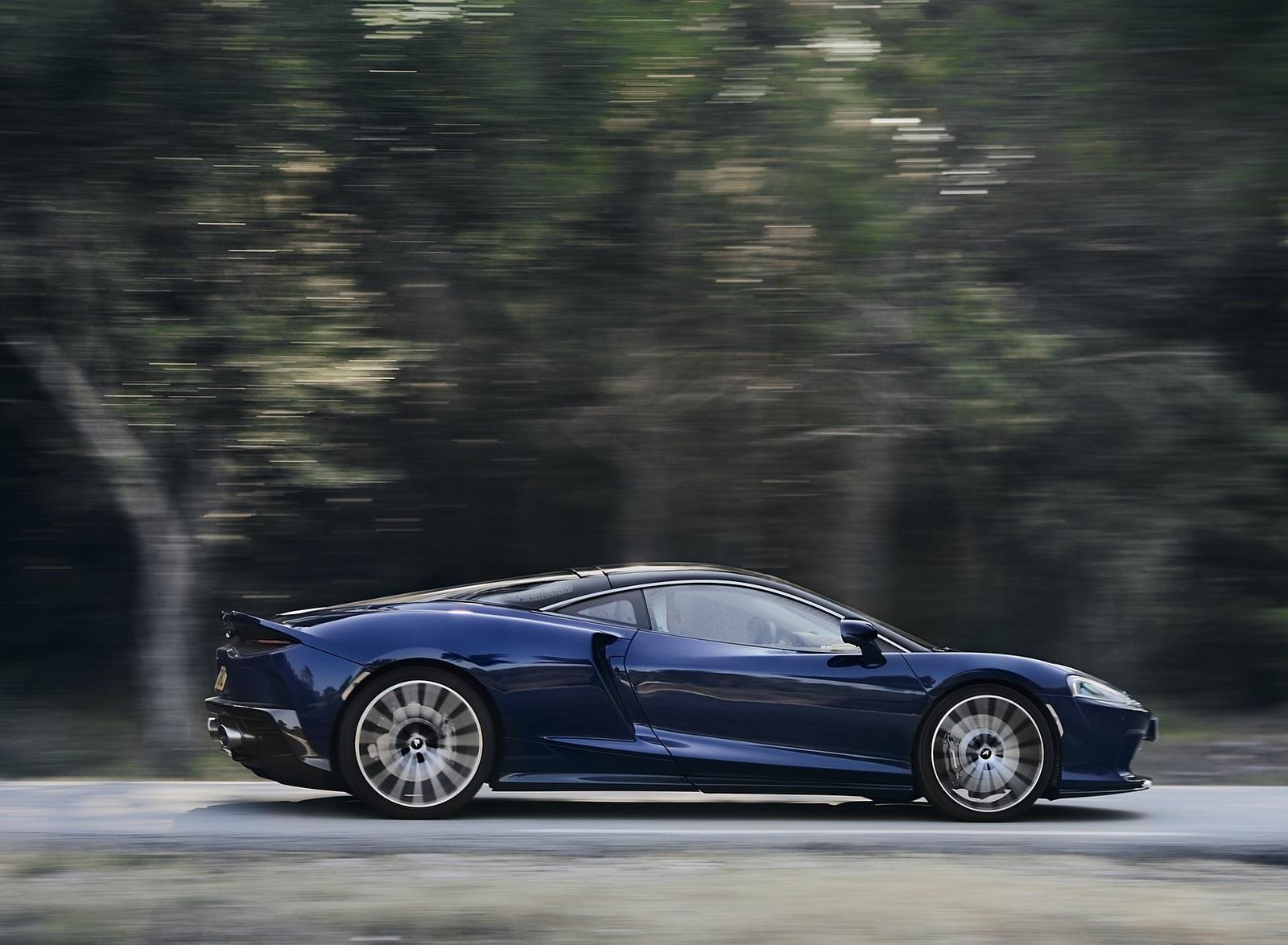 2020 McLaren GT (Color: Namaka Blue) Side Wallpapers (4)