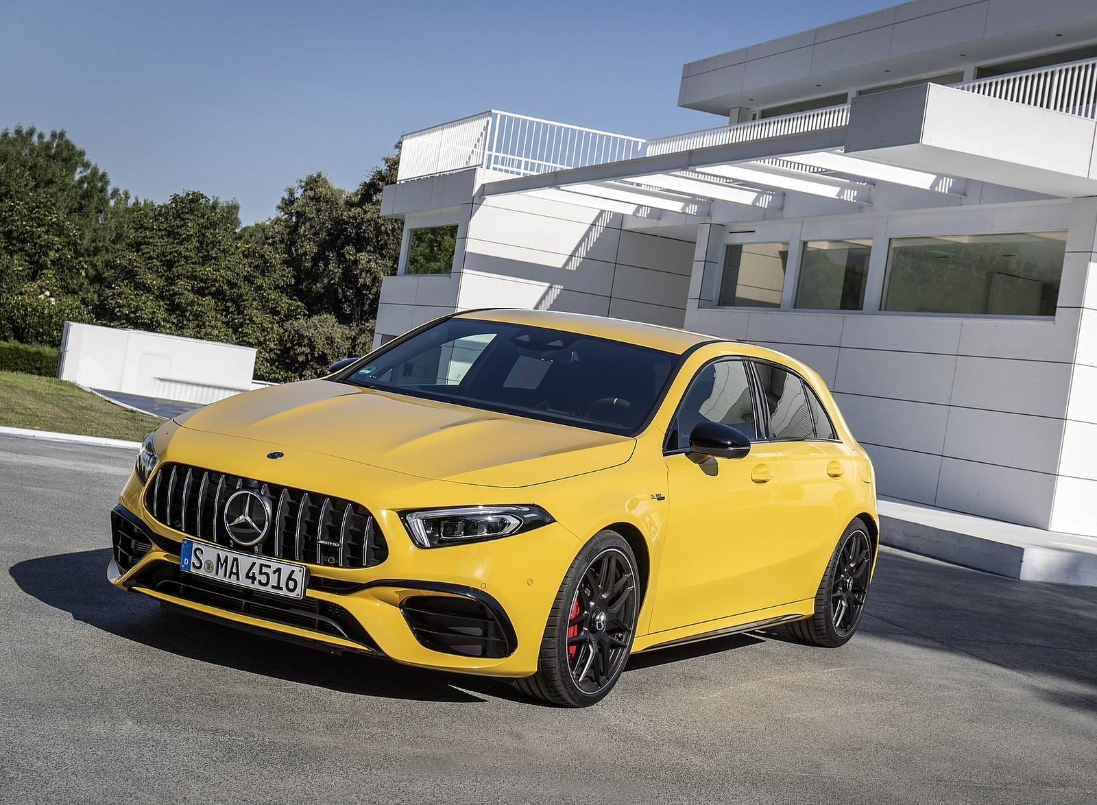 2020 Mercedes-AMG A 45 S 4MATIC+ (Color: Sun Yellow) Front Three-Quarter Wallpapers (14)