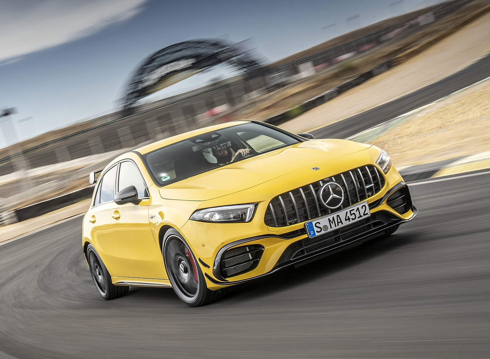 2020 Mercedes-AMG A 45 S 4MATIC+ (Color: Sun Yellow) Front Three-Quarter Wallpapers (3)