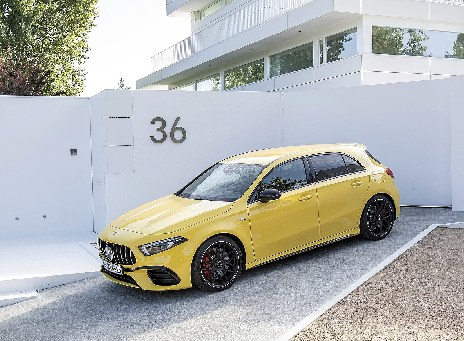 2020 Mercedes-AMG A 45 S 4MATIC+ (Color: Sun Yellow) Front Three-Quarter Wallpapers (15)