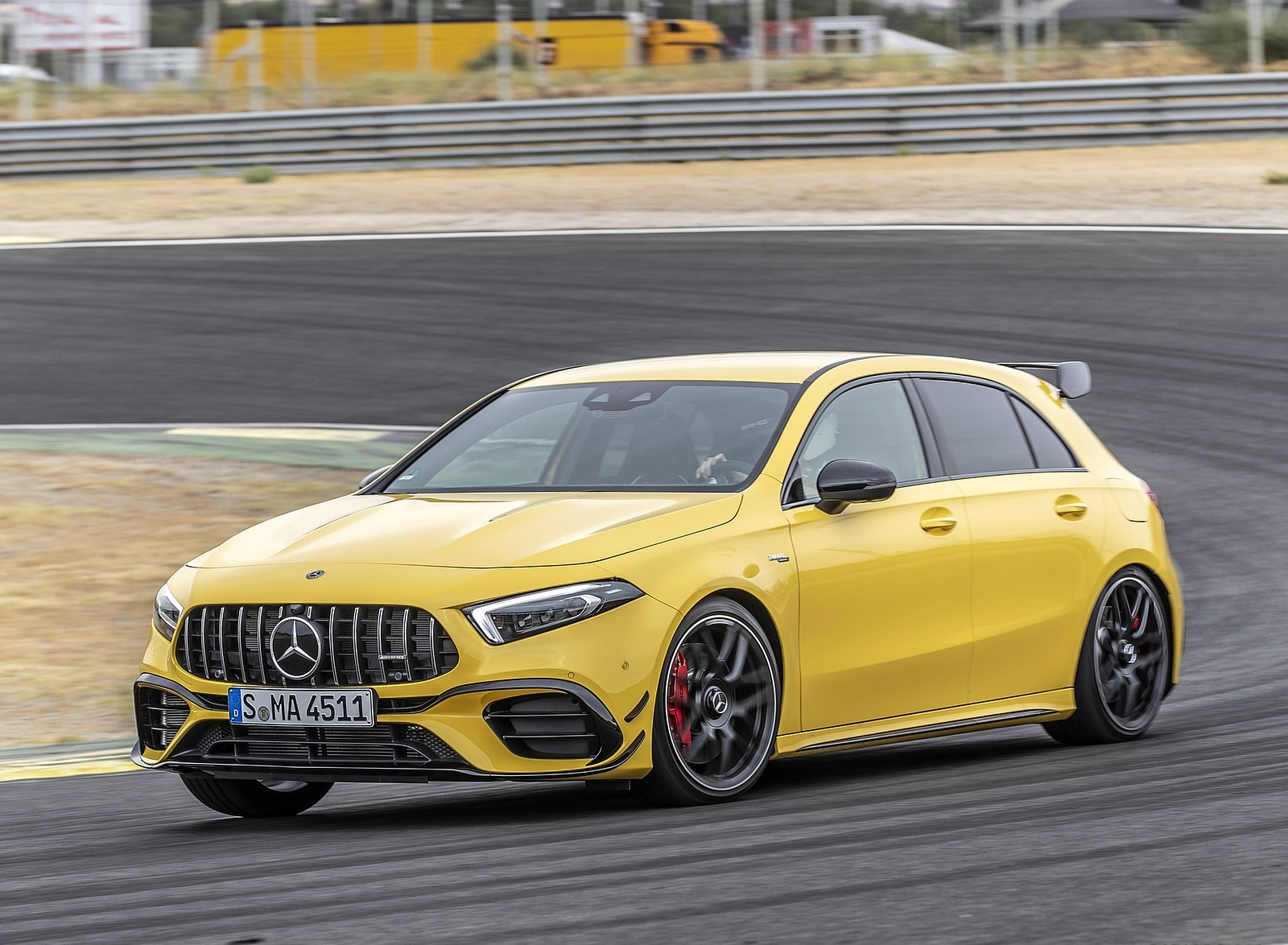 2020 Mercedes-AMG A 45 S 4MATIC+ (Color: Sun Yellow) Front Three-Quarter Wallpapers (2)